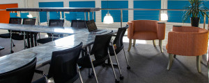 Meeting tables with breakout areas